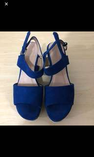 Blue Sandals ( used once, bought at SM at 1.5K)