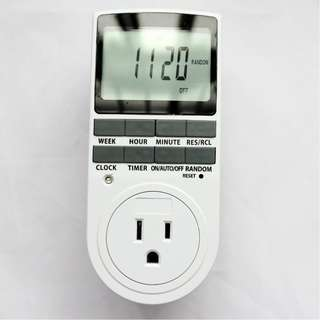 392 24 Hours 7 Days Auto Weekly Digital Programmable Timer Switch
