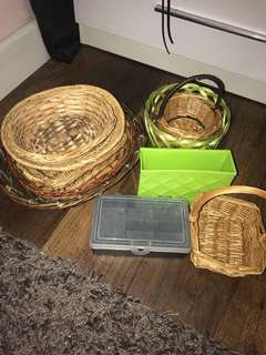Baskets storage decor set variety plastic jewellery