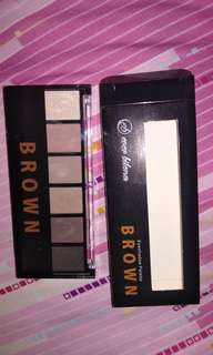 eyeshadow palette w/ eyebrow