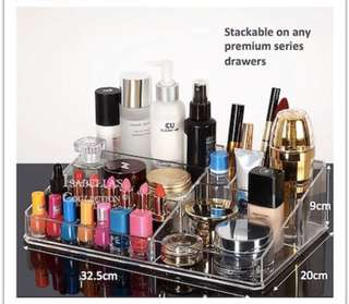 Acrylic makeup storage organizer