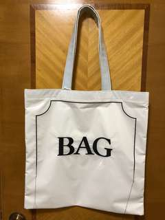 "Doublet coating tote ""BAG"""