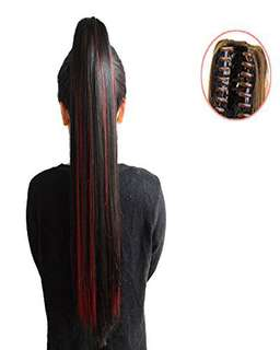 Human Hair Wigs (Red Highligts)