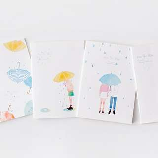 Kiss The Rain Ruled Notebook B5