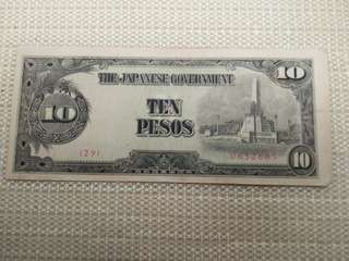 WW 2 (10peso)  Philippine-Japanese currency.