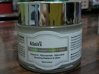 Selling: dear, Klairs Vitamin E Mask 90ml used twice only