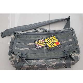 Spec-Ops Brand T.H.E (Tactical Holds Everything) Messengers Bag XL, (ACU) Made in USA