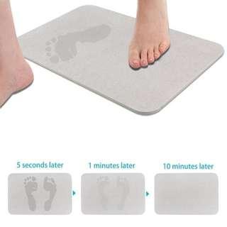 NEW! Japanese Diatomaceous Bathroom Mat Super Water Absorption Floor Mat Quick Dry