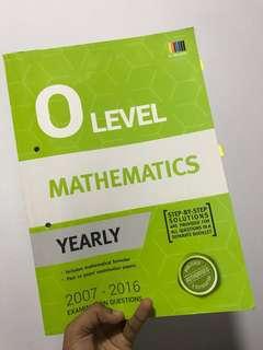 O Level emath TYS