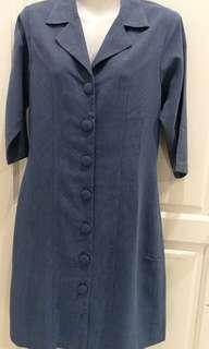 L Button Up Dress