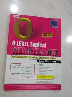 🚚 O level Topical Science Chemistry