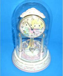 Precious Moments Porcelain Anniversary Collectible Clock
