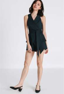 Covet Winola Wrap Playsuit (Forest)