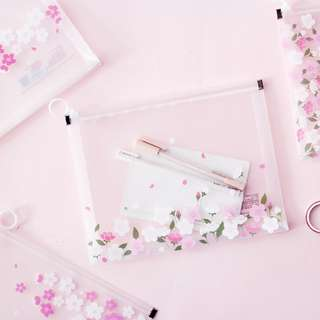 Sakura Viewing Zipper File Folder A4