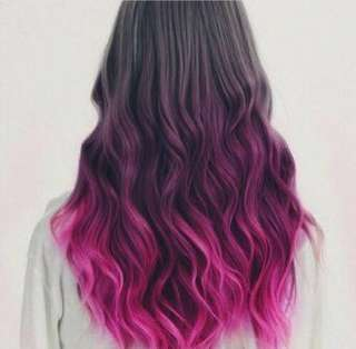 Human Hair Wigs (Pink Ombre)