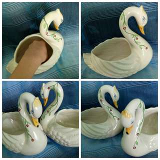💏🔥GSS Sale🔥Love Swan Unseparable Lovers Porcelain Figurine