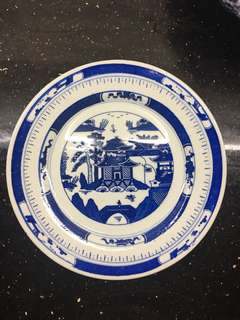 Blue and white China Plate