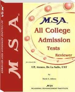 MSA All college admissions test