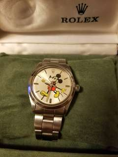 rolex vintage mickey watch