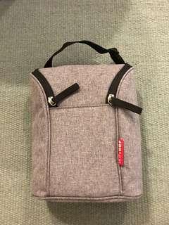 Skip Hop Double Bottle Cooler Bag - Heather Grey