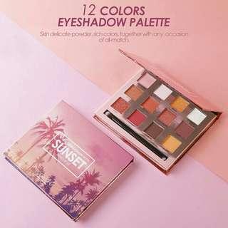 ORI Focallure palet eyeshadow 12 warna sunset burning