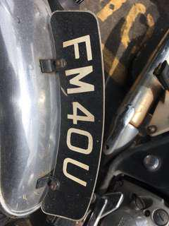 Motor number plate