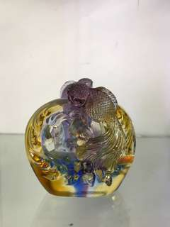 Liuli Gold Fish Display Ornament