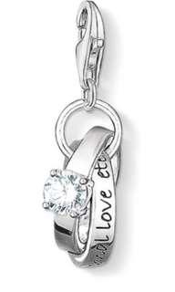 Thomas Sabo Silver Charm Pendant - Wedding Rings