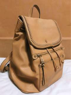 Jessica Simpson Adelaide Camel Gold Pvc Backpack