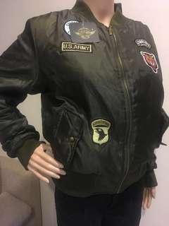 Green Flight Army Bomber Jacket Women