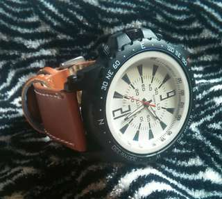 Weite Travellers Brown Leather Watch
