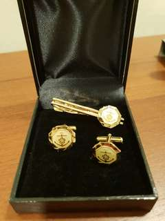 WW2 Imperial Japanese Navy Cufflinks anf Tie Clip set