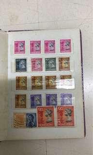 香港郵票 英女皇頭