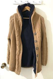 Thick Long Beige Sweater