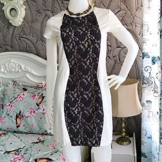 White&Black Bodycon Dress