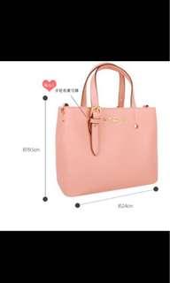 (免運)SAIME 東京企劃 水鑽通勤托特包(M) 手提包 側背包 粉色