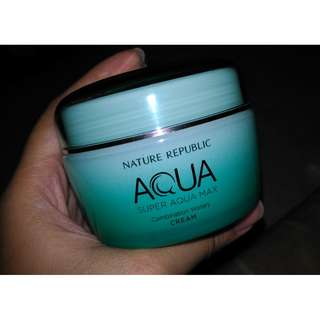 Authentic Nature Republic Best Seller ACQUA Moisturizer (Combination Watery) + Aloe Vera Cleansing Gel Foam Set