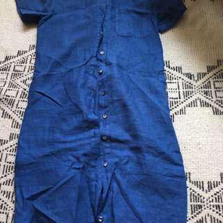 Vintage Linen Shirt Dress