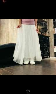 🚚 白色長紗裙