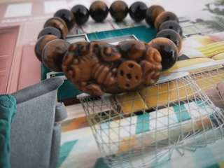 Natural Tiger Eye12mm with Pixiu