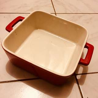 Maxwell & Williams Oven friendly Chef Du Monde cake bake plate tray cute red baking dish