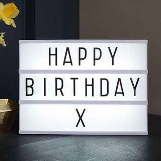 Brand New Portable A4 Letter Lightbox with built-in LED light flea market birthday wedding proposal company event decor