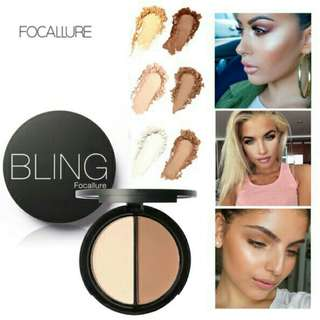 ORI Focallure bronzer highlither 2 diff color concealer bronzer pallete