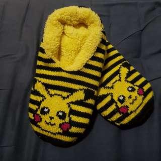 Original Pikachu Pokemon Slipper Socks
