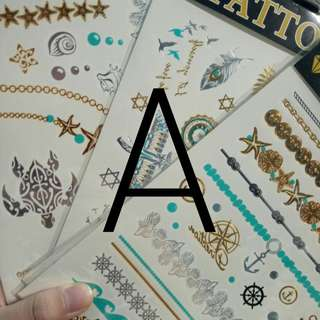 🚚 {A} metallic temporary tattoos