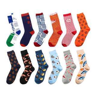 Unisex Japanese inspired pattern socks