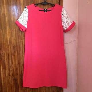 Pink Dress w/ Lace Detail