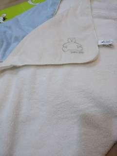 🚚 Babygap 保暖毯 約95*74公分 九成新 少用 藍色 白色