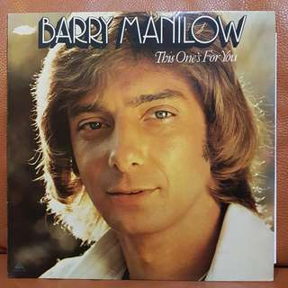 Barry Manilow - This One's For You Vinyl Record