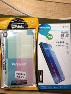 [Iphone6+]玻璃螢幕貼+透明軟殻